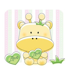 cute animal sticker vector image vector image