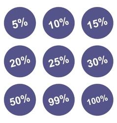 Discounts icons set vector