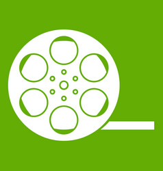 film icon green vector image
