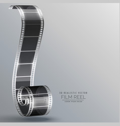 film strip in 3d style vector image vector image