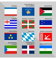 Flags of world 18 vector