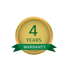Four years warranty label vector image vector image