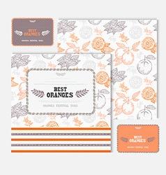 Fruit cards set vector