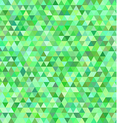Green regular triangle mosaic background design vector