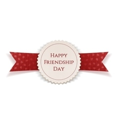 Happy friendship day banner with ribbon vector