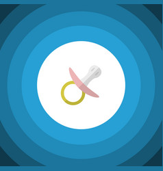 Isolated pacifier flat icon nipple element vector