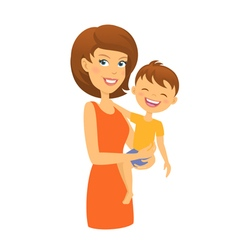 Mother with son mom and child vector