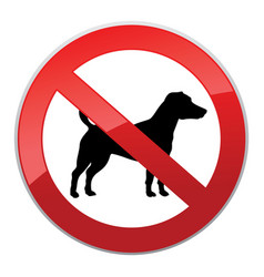 No dog walk sign dog walking fobidden symbol vector