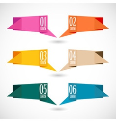 Origami banners set vector