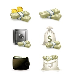 Paper money set vector image vector image