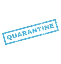 Quarantine Rubber Stamp vector image vector image