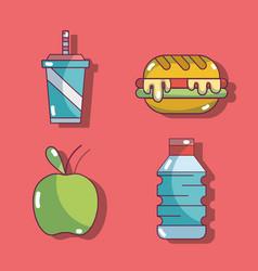 Set fresh organic protein nutrition vector
