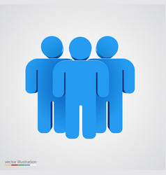 three-dimensional people group teamwork concept vector image