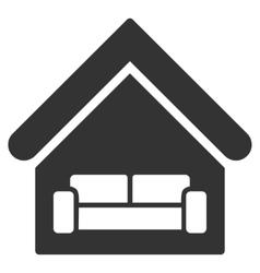 House Interrior Flat Icon vector image