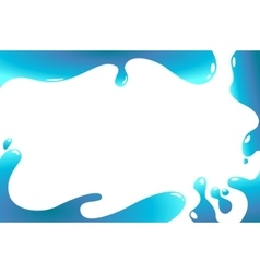 abstract water wave frame vector image