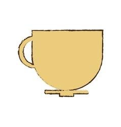 cup coffee tea chocolate hot sketch vector image