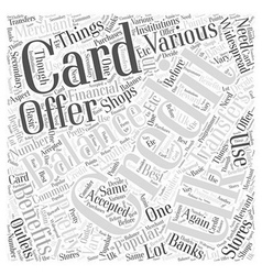 Uk credit cards and balance transfers word cloud vector