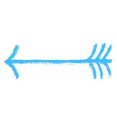 Arrow symbol brushstroke texture vector
