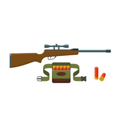 Shotgun shells and bandoliers vector