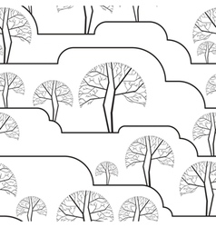 Trees seamless wallpaper vector