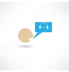 Somebody talking about music vector image