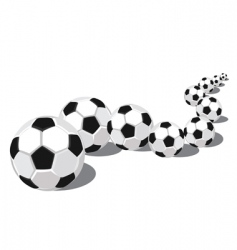 Soccer balls in a row vector