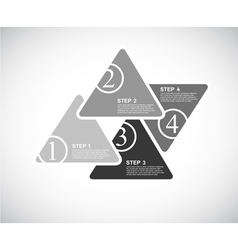 4 cards with numbers and place for your text vector image vector image