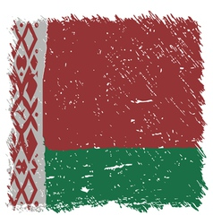 Flag of belarus handmade square shape vector