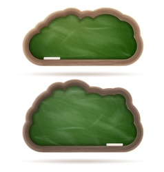 Blank green blackboard cloud set eps 10 vector