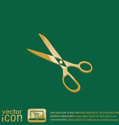 Icon scissors sewing and fashion vector