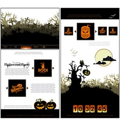 Halloween one page design template vector