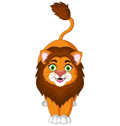 Cute lion cartoon posing for you design vector