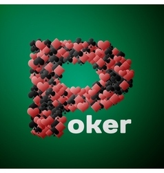 Abstract poker background vector image vector image