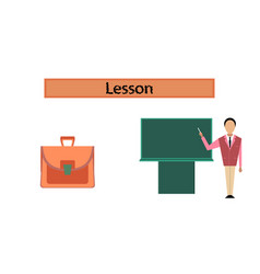 Assembly flat icons male teacher vector