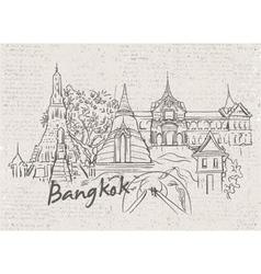 bangkok doodles vector image vector image