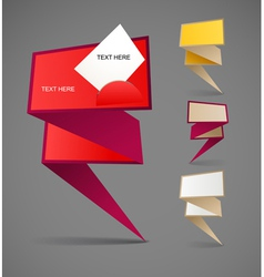 Colorful polygonal origami banners vector image
