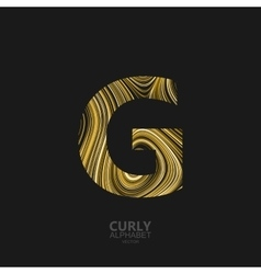 Curly textured Letter G vector image