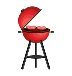 Delicious barbecue grill isolated icon vector