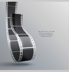 film strip in 3d style design vector image