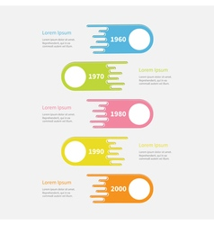 Five step timeline infographic vertical colorful vector