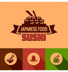 flat template of sushi bar menu vector image vector image