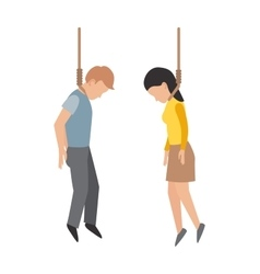 Gallows people vector