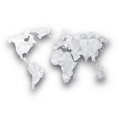 Grunge texture gray world map globe transparent vector image gray geometric abstract world map vector image sciox Gallery