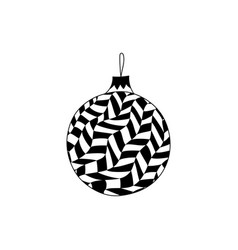 hand drawn christmas ball toy with in zentangle vector image vector image