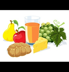 healthy brunch vector image vector image