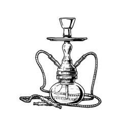 hookah on white background vector image