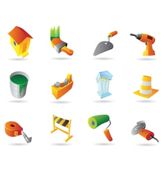 Icons for construction industry vector image