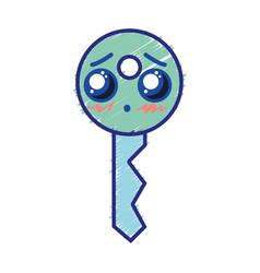 Kawaii cute tender key security vector