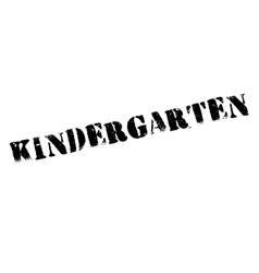 Kindergarten rubber stamp vector