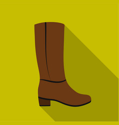 Knee high boots icon in flat style isolated on vector